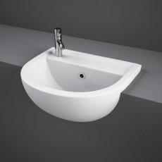 RAK Compact Semi-Recessed Basin 450mm Wide 1 LH Tap Hole