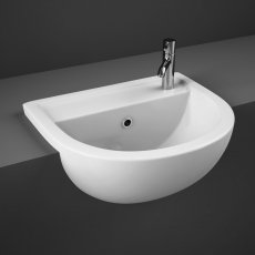 RAK Compact Semi-Recessed Basin 550mm Wide 1 Tap Hole