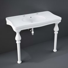 RAK Console Deluxe Basin with Ceramic Legs 1050mm Wide - 2 Tap Hole
