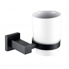 RAK Cubis Single Tumbler and Holder Wall Mounted - Black