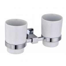 RAK Cubis Double Tumbler and Holder Wall Mounted - Chrome