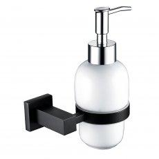 RAK Cubis Modern Soap Dispenser Wall Mounted - Black