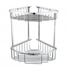 RAK Double Round Front Corner Basket - Chrome