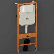 RAK Ecofix Concealed Toilet Support Frame with 120mm Concealed Cistern 1140mm High - Orange/White