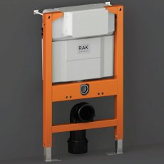 RAK Ecofix Concealed Toilet Support Frame with Concealed Cistern 820mm High - Orange/White