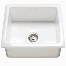 RAK Gourmet 6 Ceramic Belfast Kitchen Sink 1.0 Bowl 450mm L x 475mm W - White