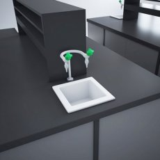 RAK Laboratory 2 Ceramic Belfast Kitchen Sink 1.0 Bowl 330mm L x 330mm W - White