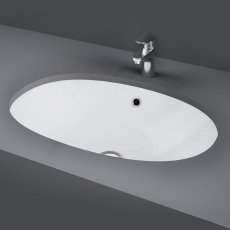RAK Lily Undermount Countertop Basin 460mm Wide - 0 Tap Hole