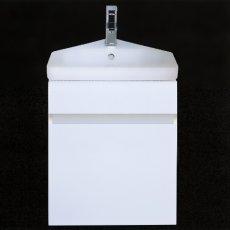 RAK Manhattan Corner Vanity Unit with Resort Basin 450mm Wide 1 Tap Hole - Gloss White