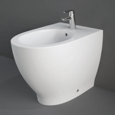 RAK Moon Back to Wall Bidet 560mm Projection 1 Tap Hole (Tap Not Included)