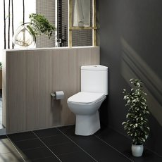 RAK Origin 62 Corner Full Access Close Coupled Toilet - PP Soft Close Seat