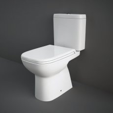 RAK Origin 62 Full Access Close Coupled Toilet with Push Button Cistern - Deluxe Soft Close Seat
