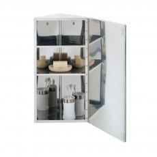 RAK Riva Single Corner Cabinet with Mirrored Door 650mm H x 380mm W