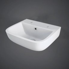 RAK Series 600 Cloakroom Basin 400mm Wide 2 Tap Hole