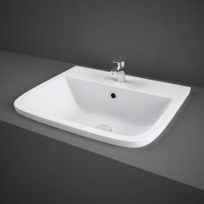 RAK Series 600 Inset Vanity Basin 500mm Wide 1 Tap Hole