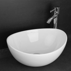 RAK Shell Sit-On Countertop Basin 390mm Wide - 0 Tap Hole