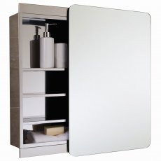 RAK Slide Single Cabinet with Sliding Mirrored Door 660mm H x 460mm W