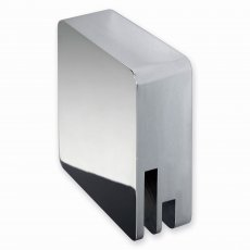 RAK Square Freeflow Overflow Bath Filler Tap & Click Clack Waste - Chrome