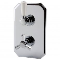RAK Washington Thermostatic Single Outlet Concealed Shower Valve - Chrome