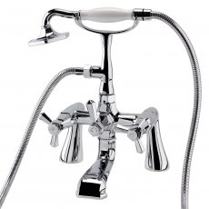 RAK Washington Bath Shower Mixer Tap Pillar Mounted - Chrome