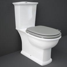 RAK Washington Close Coupled Toilet with Horizontal Outlet & Push Button Cistern - Grey Seat
