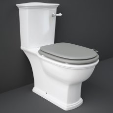 RAK Washington Close Coupled Toilet with Vertical Outlet & Lever Cistern - Grey Seat