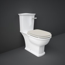 RAK Washington Close Coupled Toilet with Vertical Outlet & Lever Cistern - Greige Seat