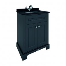 RAK Washington Traditional Floor Standing 2 Door Vanity Unit 600mm Wide - Black