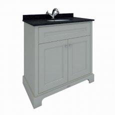 RAK Washington Traditional Floor Standing 2 Door Vanity Unit 800mm Wide - Greige