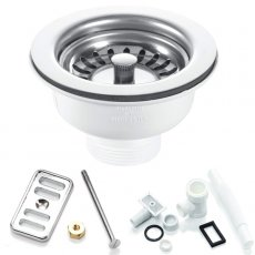 RAK 90mm Stainless Steel Kitchen Sink Waste and Overflow Pack