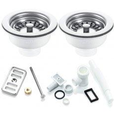 RAK Kitchen Sink Waste and Overflow Pack For 2 Waste Sink