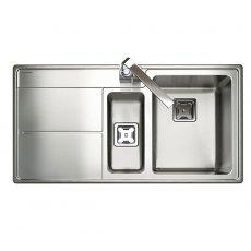 Rangemaster Arlington AR9852L 1.5 Bowl Kitchen Sink LH 985mm L x 508mm W - Stainless Steel