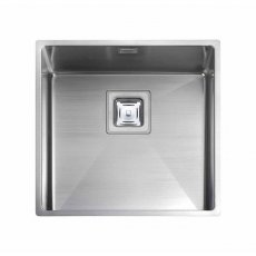 Rangemaster Atlantic Kube KUB40 1.0 Bowl Undermount Kitchen Sink 430mm L x 430mm W Stainless