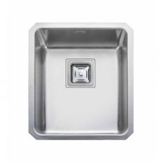 Rangemaster Atlantic Quad QUB34 1.0 Bowl Undermount Kitchen Sink 390mm L x 450mm W Stainless