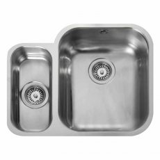 Rangemaster Atlantic Classic UB3515L 1.5 Bowl Undermount Kitchen Sink LH 597mm x 472mm Stainless