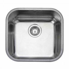 Rangemaster Atlantic Classic UB45 1.0 Bowl Undermount Kitchen Sink 490mm L x 460mm W Stainless