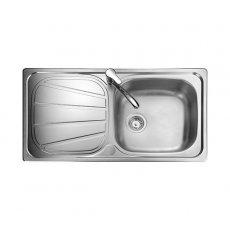 Rangemaster Baltimore BL9501 1.0 Bowl Reversible Kitchen Sink 950mm L x 508mm W - Stainless Steel