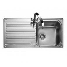 Rangemaster Sedona 1.0 Bowl Kitchen Sink 985mm L x 508mm W - Brushed Stainless Steel