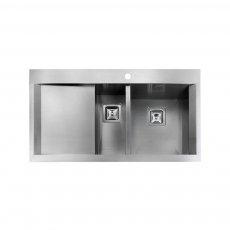 Rangemaster Senator 1.5 Bowl Kitchen Sink RH 990mm L x 525mm W - Stainless Steel
