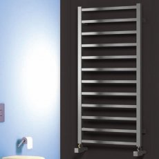 Reina Arden Square Tube Heated Towel Rail 1000mm H x 500mm W Polished Stainless Steel
