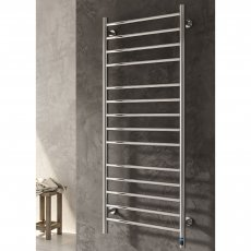 Reina Arnage Electric Straight Heated Towel Rail 800mm H x 500mm W Polished