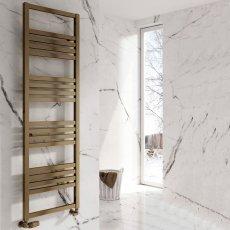 Reina Bolca Designer Heated Towel Rail 870mm H x 485mm W Bronze Satin