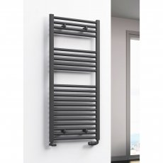 Reina Diva Flat Heated Towel Rail 1200mm H x 400mm W Anthracite