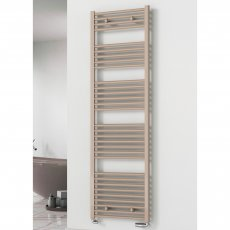 Reina Diva Flat Heated Towel Rail 800mm H x 600mm W Latte