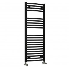 Reina Diva Thermostatic Electric Curved Heated Towel Rail 1200mm H x 600mm W Black
