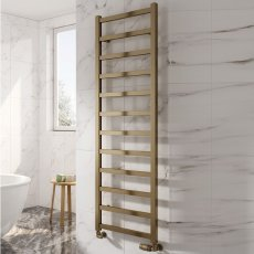 Reina Fano Designer Heated Towel Rail 720mm H x 485mm W Bronze Satin