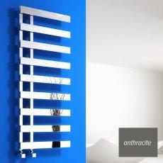 Reina Florina Designer Heated Towel Rail 1525mm H x 500mm W Anthracite