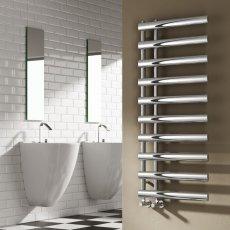 Reina Grace Designer Heated Towel Rail 1140mm H x 500mm W Chrome