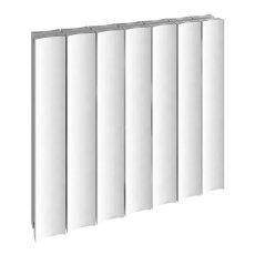 Reina Luca Double Horizontal Aluminium Radiator 600mm H x 470mm W White