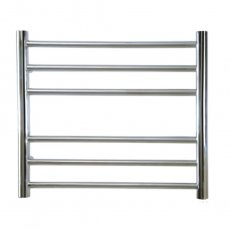 Reina Luna Straight Heated Towel Rail 430mm H x 600mm W Stainless Steel